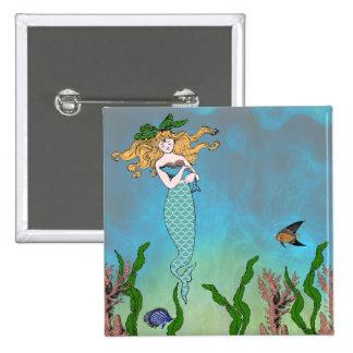 Sirena y sello pin cuadrado