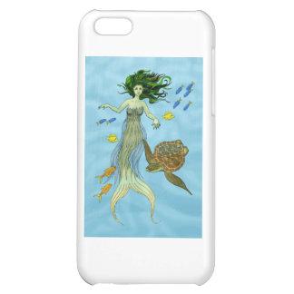 Sirena y tortuga de mar