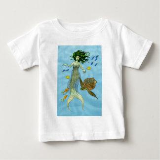 Sirena y tortuga de mar playera