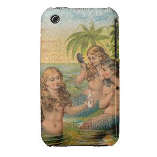 Sirenas - arte clásico iPhone 3 Case-Mate protector