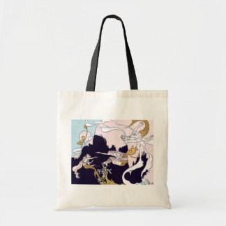 Sirenas del art déco bolsa tela barata