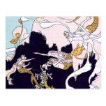 Sirenas del art déco tarjetas postales