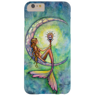 Sirenas del arte de la fantasía de la luna de la funda de iPhone 6 plus barely there