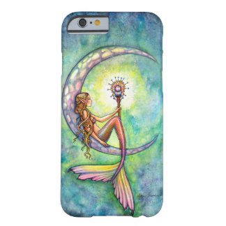Sirenas del arte de la fantasía de la luna de la funda para iPhone 6 barely there