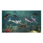 Sirenas en las primaveras de la tortuga fotografía