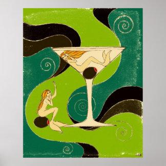 Sirenas en un Martini Impresiones