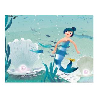 Sirenas preciosas en el ejemplo del mar postales