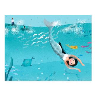 Sirenas preciosas en el ejemplo del mar tarjetas postales