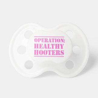 Sirenas sanas de la operación chupetes para bebes