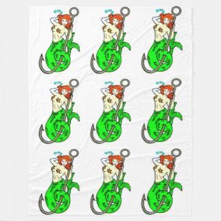 sirenas verde-atadas del redhead manta de forro polar