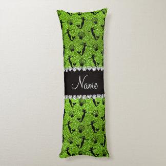 Sirenas verdes de neón conocidas personalizadas cojin cama