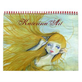 Sirens 2015 Fantasy Art Calendar by Katerina Art