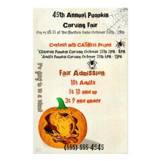 Sirens Haunted Halloween Pumpkin Carving EVENT Flyer