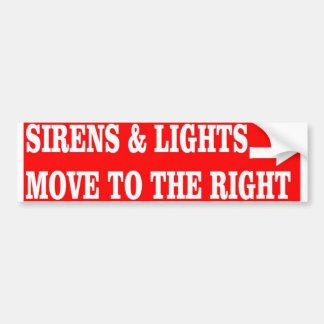 SIRENS & LIGHTS CAR BUMPER STICKER
