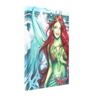 Sirens Love a Mermaids Kiss wrappedcanvas