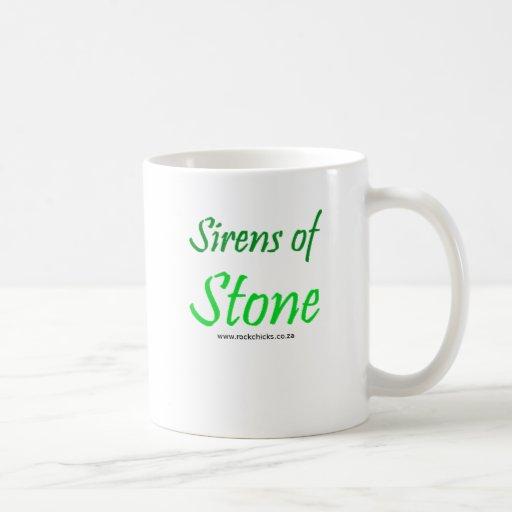 Sirens of Stone Text Green Coffee Mug