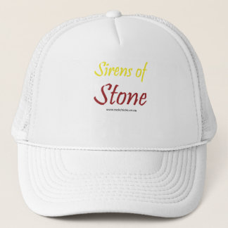 Sirens of Stone Text Yellow Trucker Hat