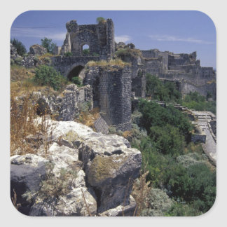 Siria, castillo de Marqab, cruzados se escuda Colcomanias Cuadradases