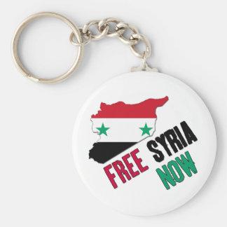 Siria libre ahora llavero redondo tipo pin