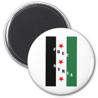 Siria libre imán redondo 5 cm