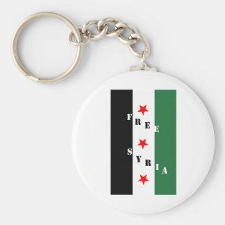 Siria libre llavero redondo tipo pin