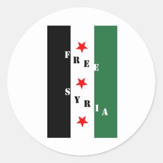 Siria libre pegatina redonda