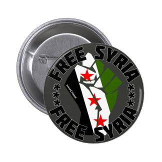 Siria libre pin redondo 5 cm