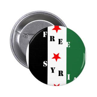 Siria libre pin redondo de 2 pulgadas