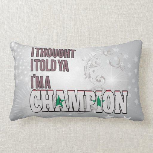 Sirio y un campeón almohadas
