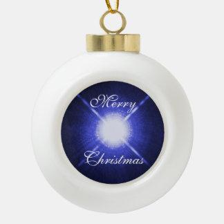 Sirius A and B bright night stars Ceramic Ball Christmas Ornament