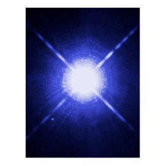 Sirius A and B bright night stars Postcard
