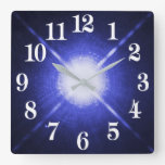 Sirius A and B bright night stars Square Wall Clock