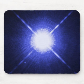 Sirius A and B - brightest glowing star Mouse Pad