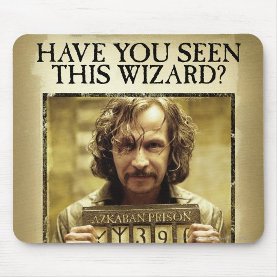 Sirius Black Wanted Poster Mouse Pad