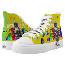 Sirius Ziggy Animal Astronaut Dog in Rainbow Space High-Top Sneakers