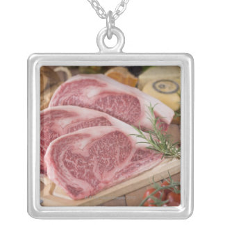 Sirloin of Beef Silver Plated Necklace