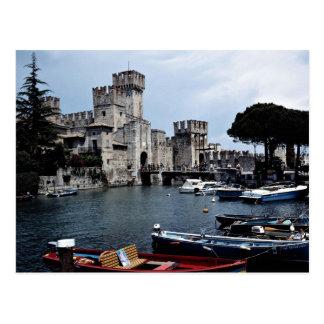 Sirmione Castle, south side, Lake Garda, Italy Postcard
