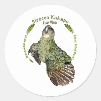 Sirocco Fan Club head-bangin'-good time Classic Round Sticker