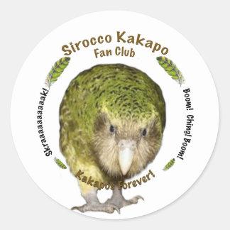 Sirocco Kakapo Fan Club Classic Round Sticker