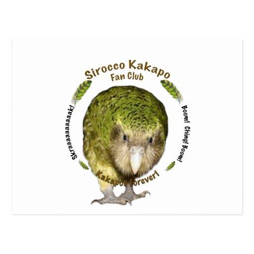 Sirocco Kakapo Fan Club Postcard