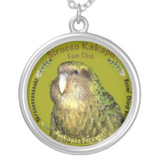 Sirocco Kakapo Fan Club Round Pendant Necklace