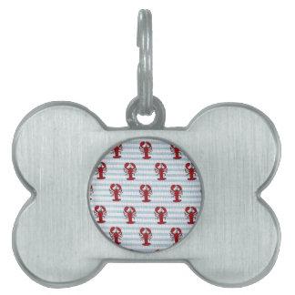 sirsaca de la langosta placa mascota