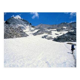 Sirva caminar en la nieve, Col du Fromage, montaña Tarjeta Postal