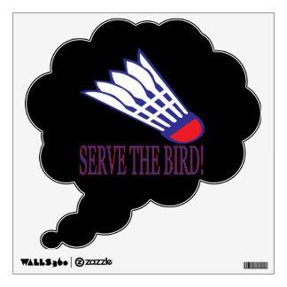 Sirva el pájaro vinilo adhesivo