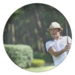 Sirva jugar al golf, prefectura de Miyazaki, Plato Para Fiesta