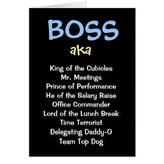 Sirva la tarjeta de Navidad de Boss - aka cargos d