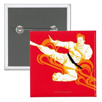 Sirva los artes marciales practicantes, realizando pin cuadrada 5 cm