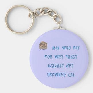 Sirva quién ahogó la compra la paga del gato para llavero redondo tipo pin
