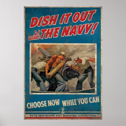 Sírvalo hacia fuera con la marina de guerra posters