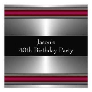 Sirve a la 40.a fiesta de cumpleaños con clase de  invitaciones personalizada